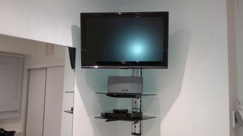 corner tv wall bracket with shelf corner tv wall mount. Black Bedroom Furniture Sets. Home Design Ideas